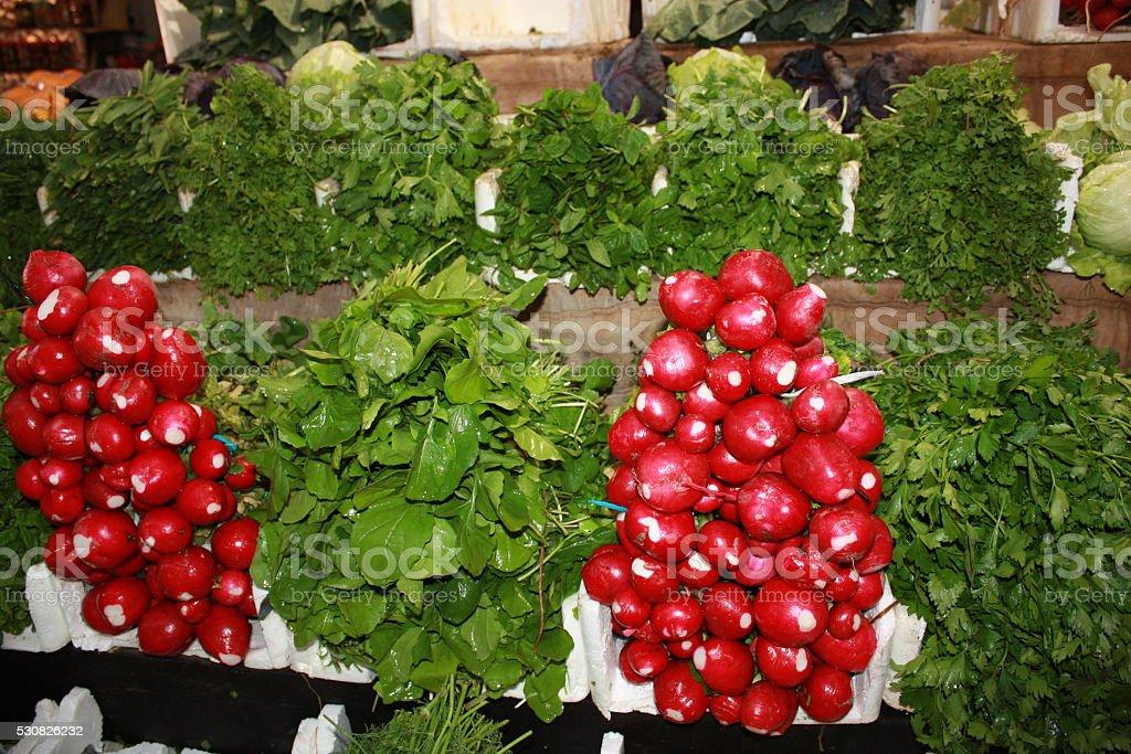 Vegetables Market in Jordan stock photo
