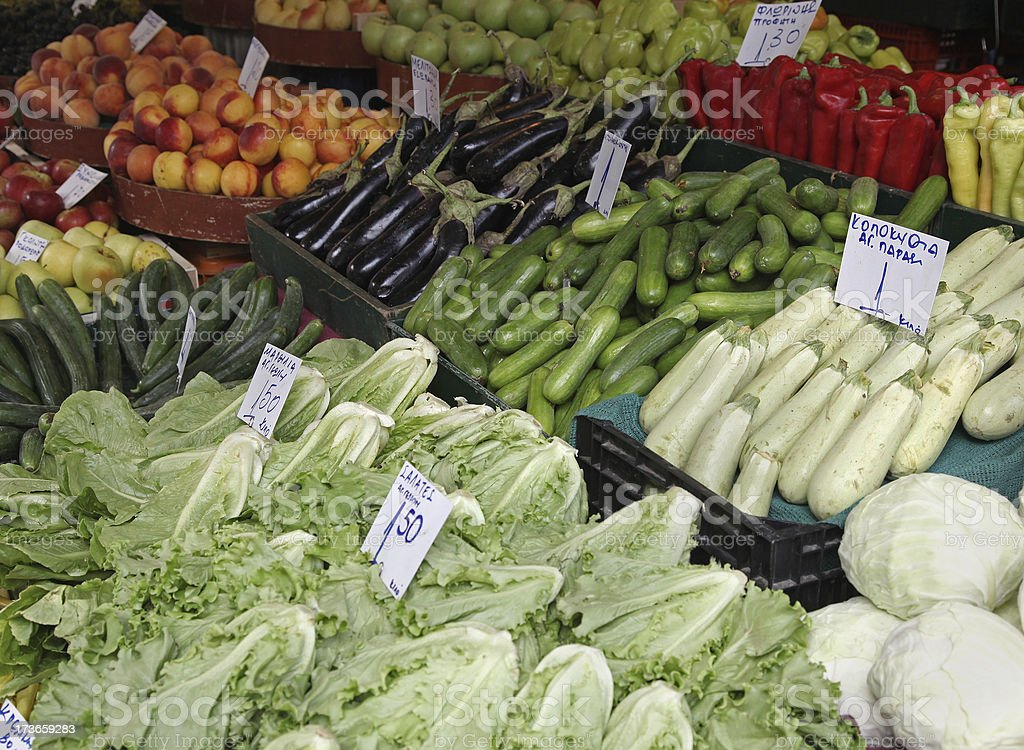 Vegetables market stall royalty-free stock photo