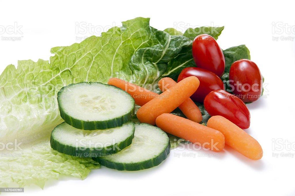 Vegetables on a Lettuce Leaf royalty-free stock photo
