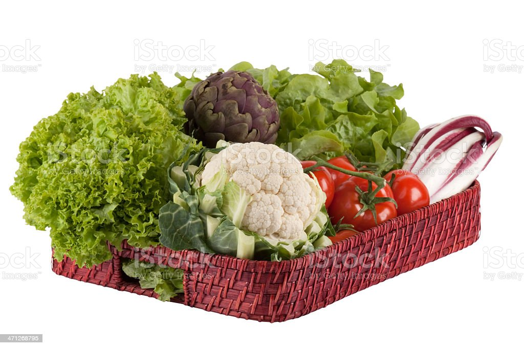 Vegetables on a tray royalty-free stock photo