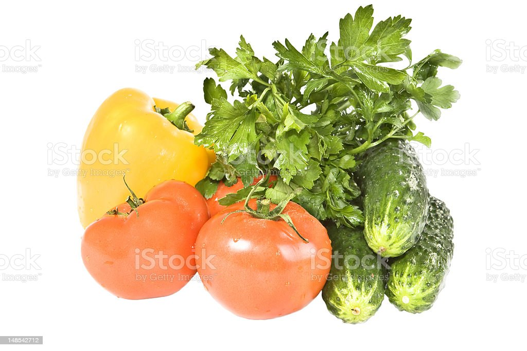 Vegetables on a white background. royalty-free stock photo