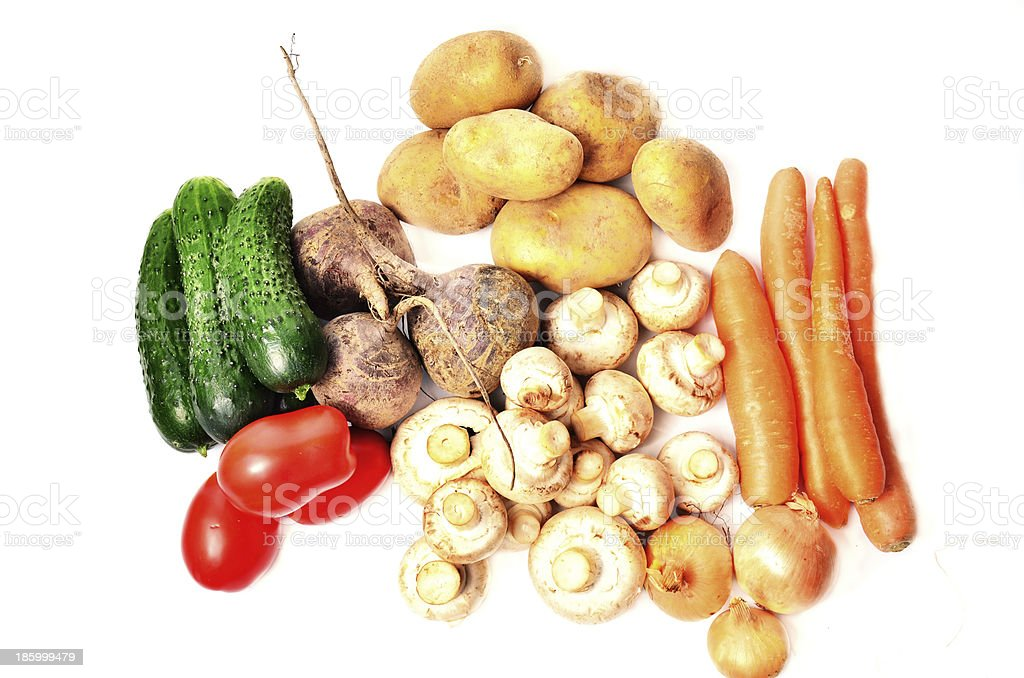Vegetables on a white background royalty-free stock photo