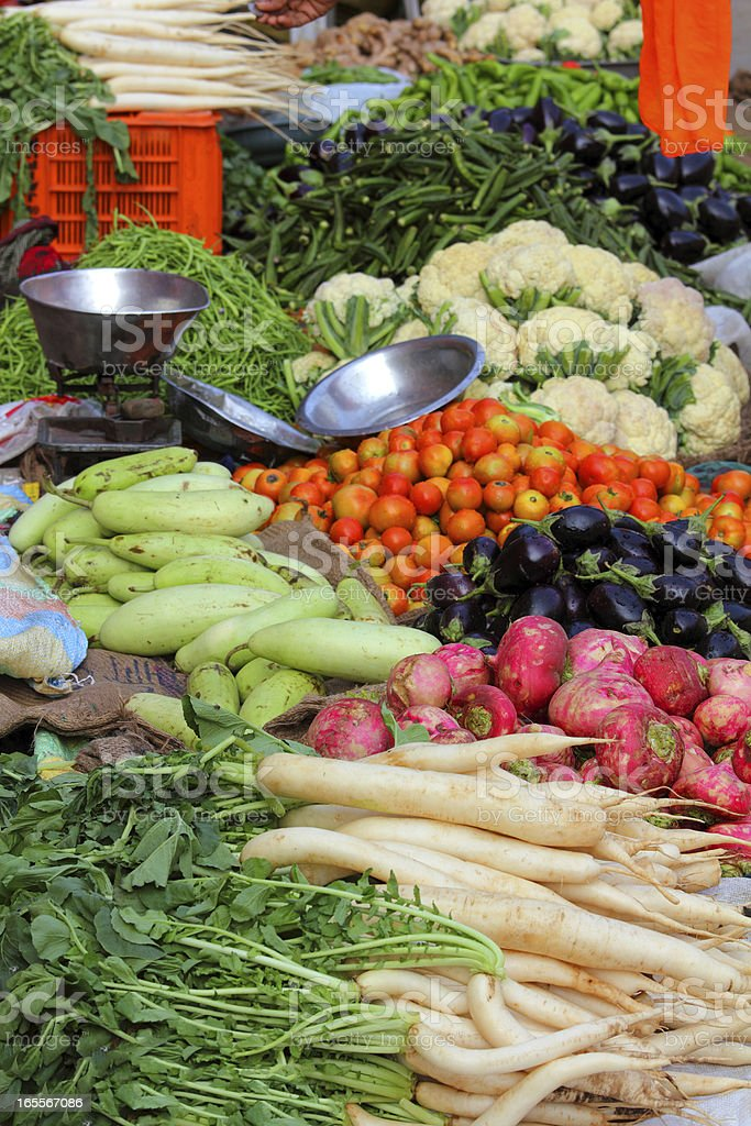 vegetables on market in india royalty-free stock photo