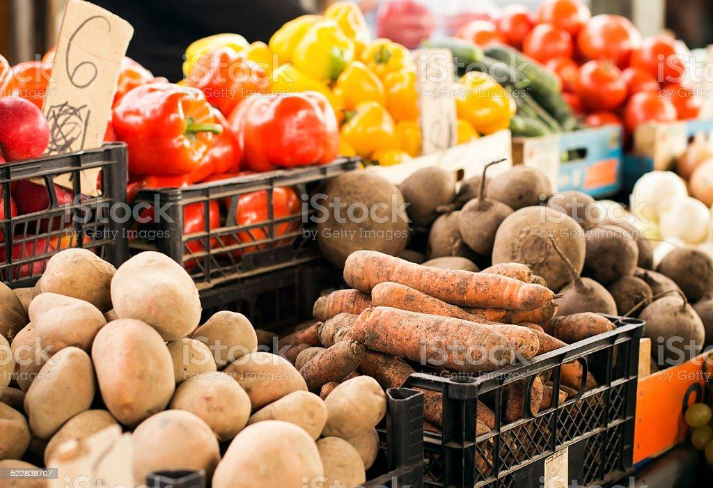Vegetables on market stock photo
