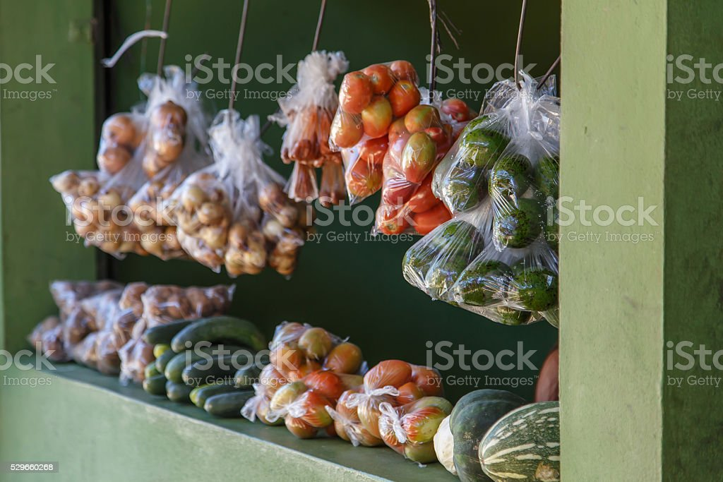 vegetables on sell stock photo