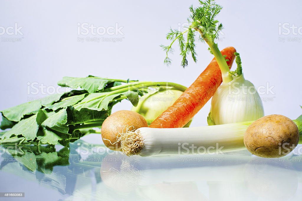 Vegetables on table stock photo