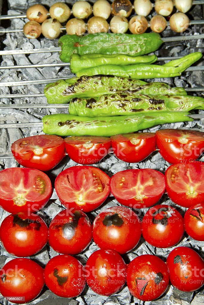 Vegetables On the barbecue royalty-free stock photo