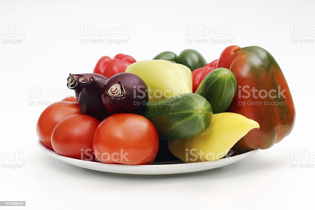 Vegetables on the plate. royalty-free stock photo