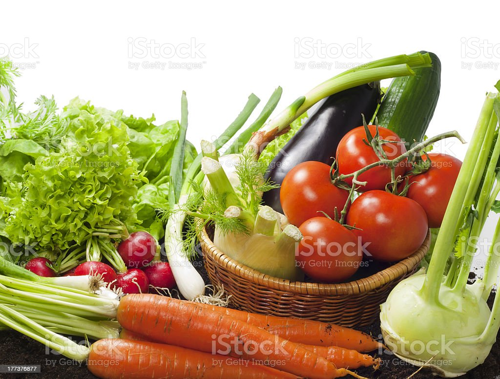 vegetables on white background royalty-free stock photo