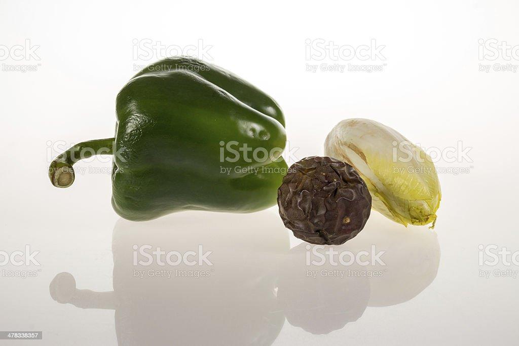 Vegetables on white background stock photo