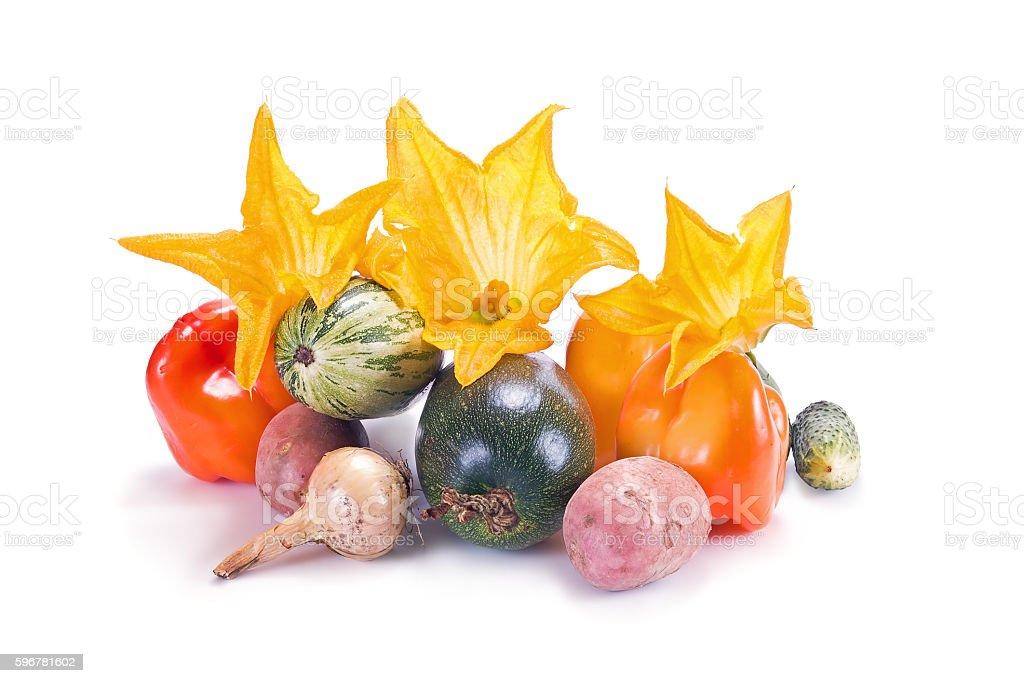 Vegetables on white stock photo