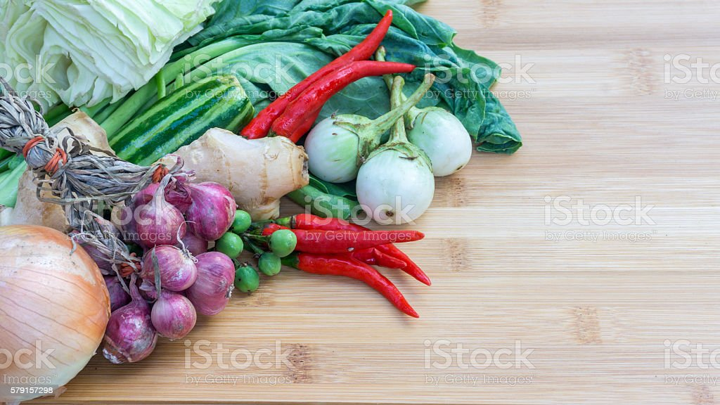 vegetables on wood royalty-free stock photo
