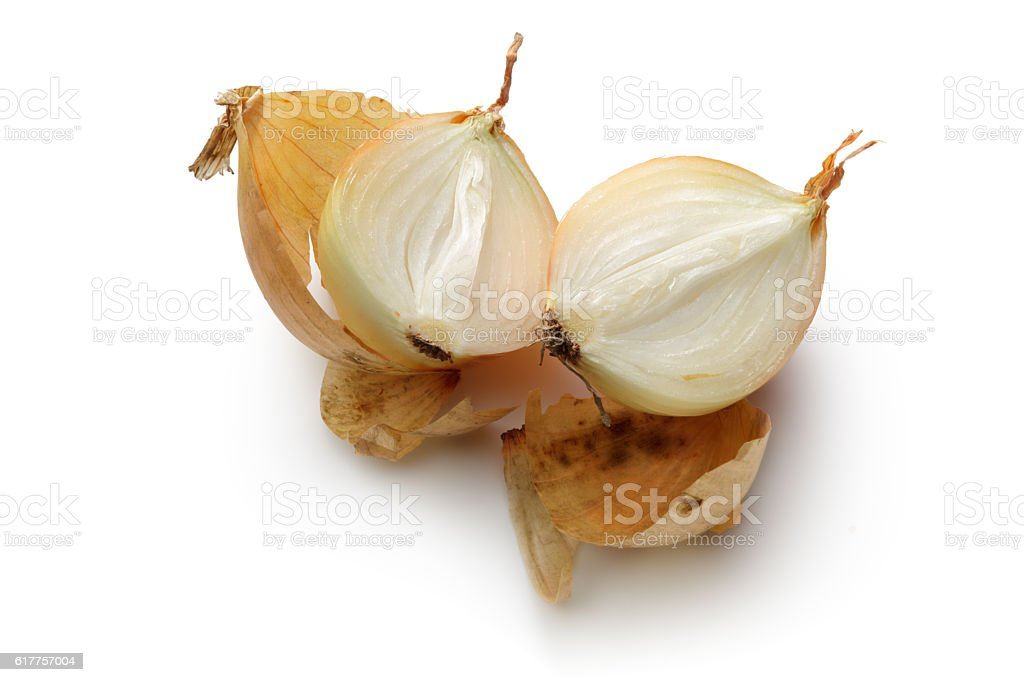 Vegetables: Onion Isolated on White Background stock photo