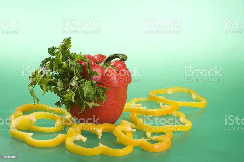 Vegetables over green. royalty-free stock photo