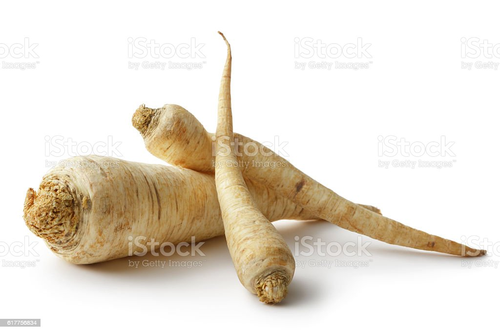 Vegetables: Parsnip Isolated on White Background stock photo
