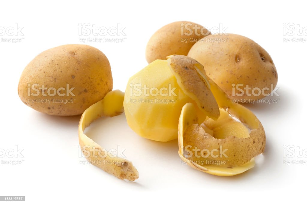 Vegetables: Potato Isolated on White Background royalty-free stock photo