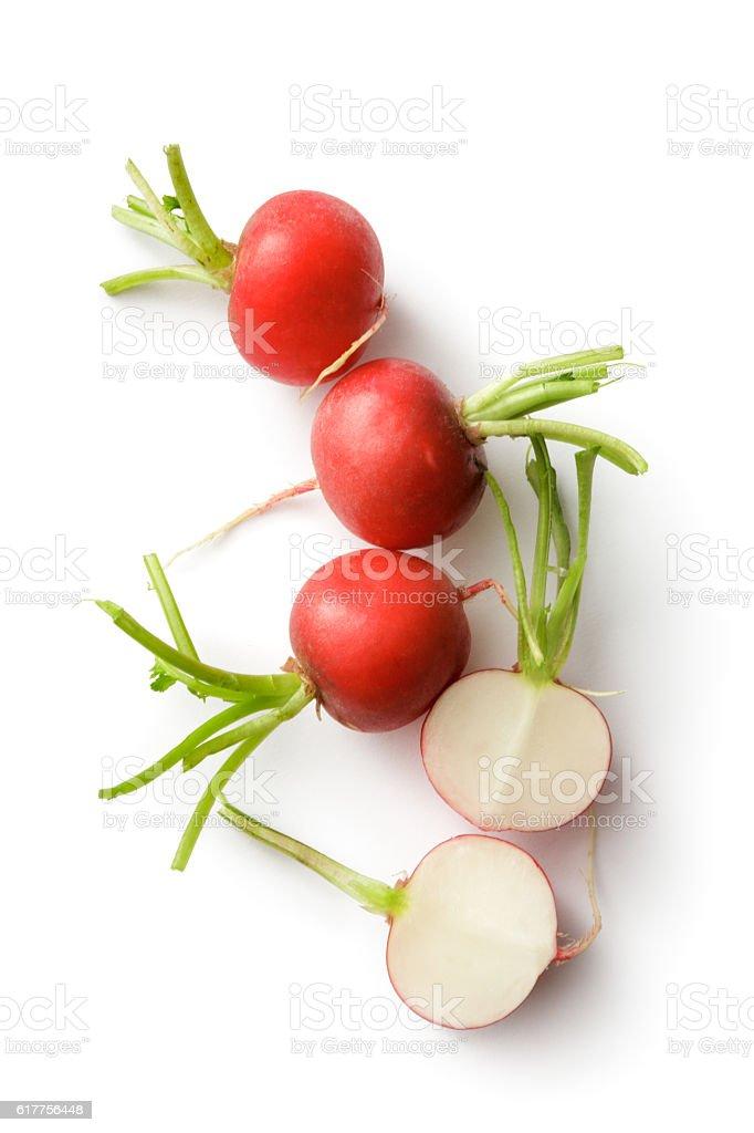 Vegetables: Radish Isolated on White Background stock photo
