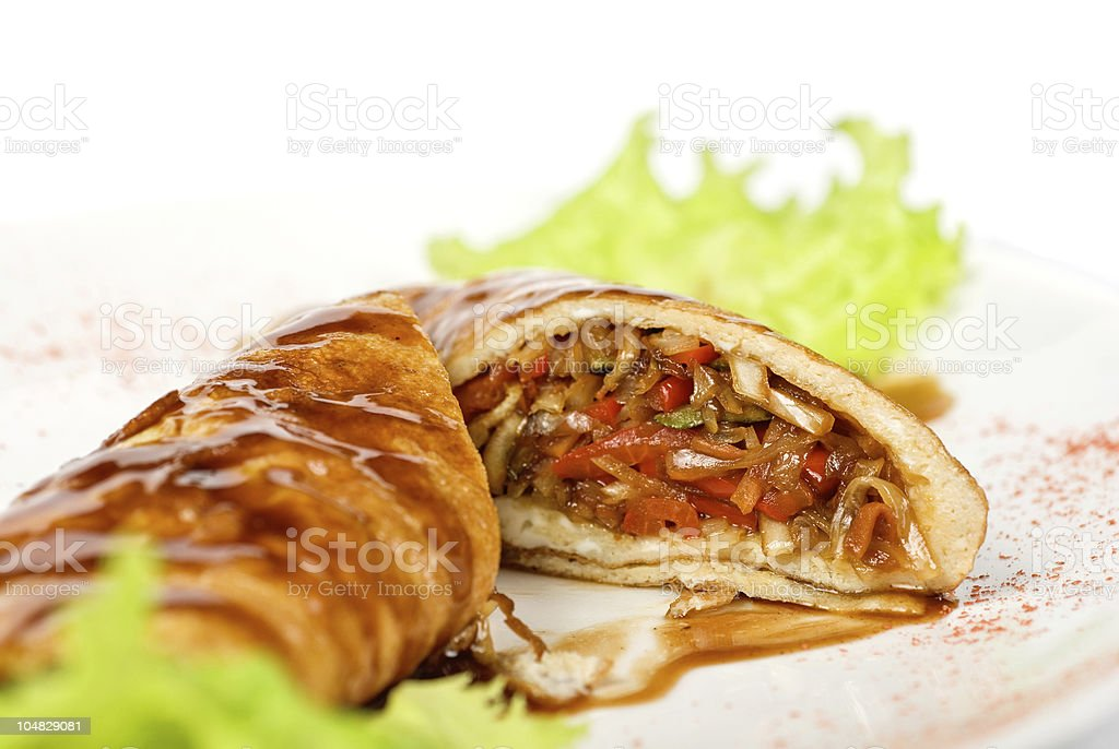 vegetables roasted at omelette royalty-free stock photo