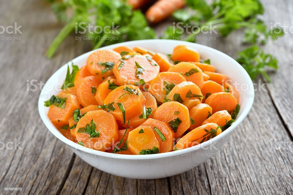 Vegetables salad with carrot stock photo