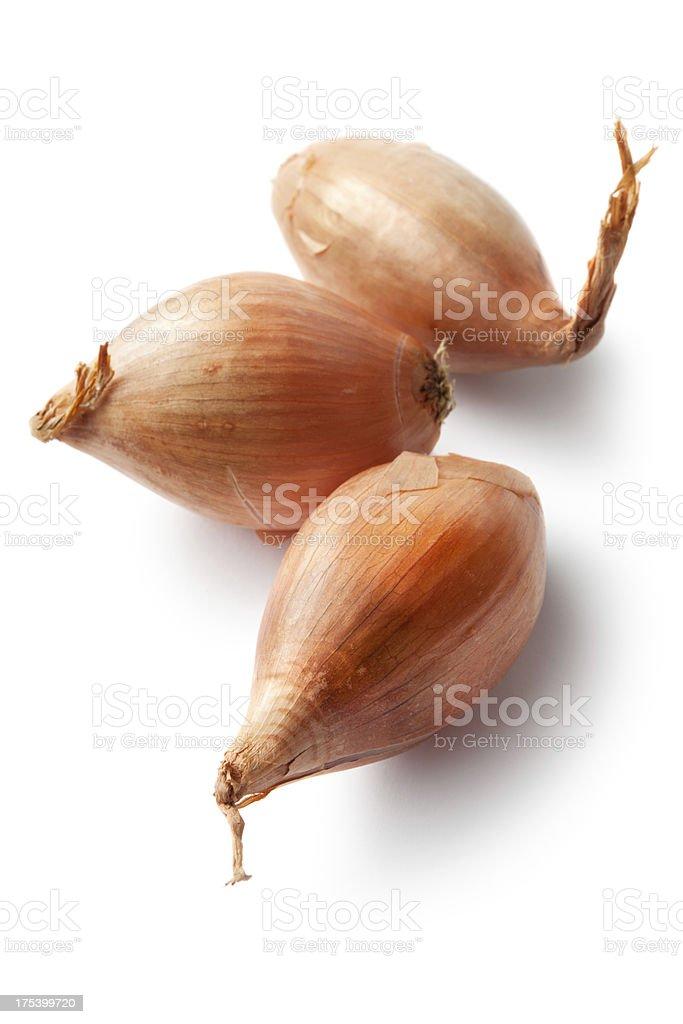 Vegetables: Shallots Isolated on White Background stock photo