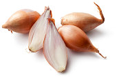 Vegetables: Shallots Isolated on White Background