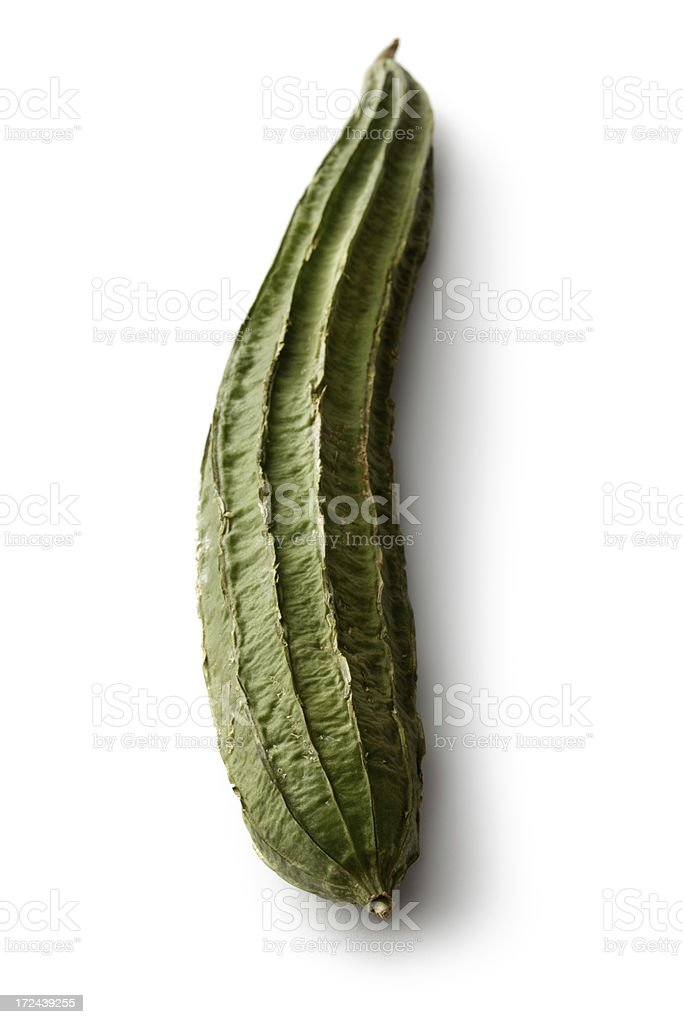 Vegetables: Silk Gourd Isolated on White Background royalty-free stock photo