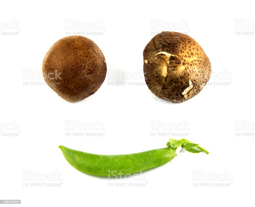 Vegetables smiling stock photo