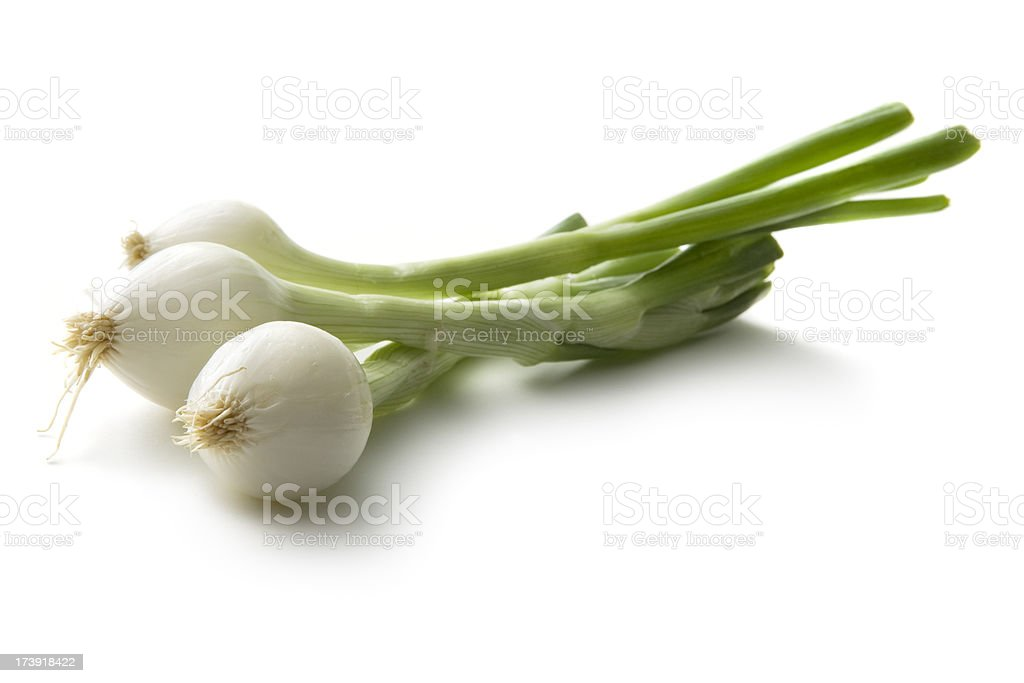 Vegetables: Spring Onion Isolated on White Background stock photo