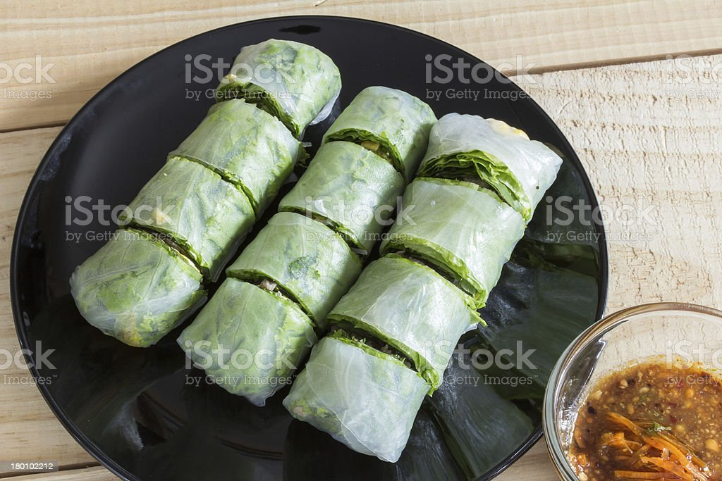 vegetables spring roll royalty-free stock photo
