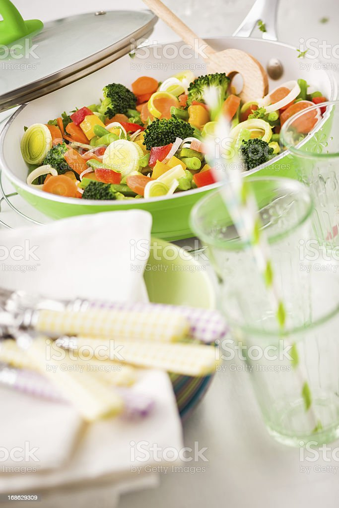 Vegetables Stir Fry royalty-free stock photo