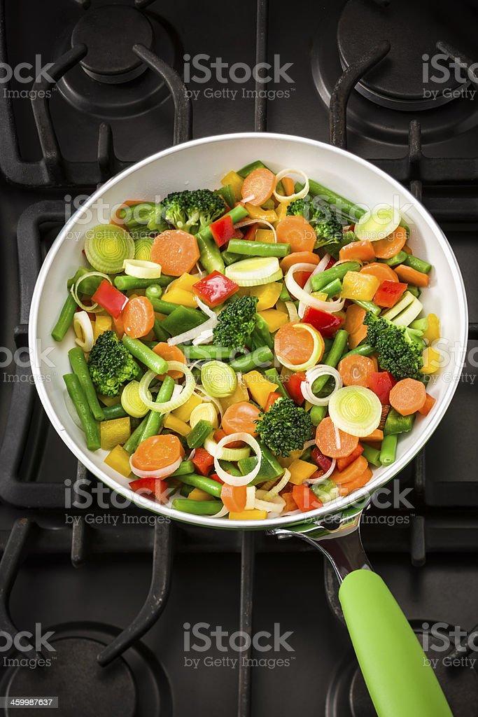 Vegetables Stir Fry royalty-free stock photo