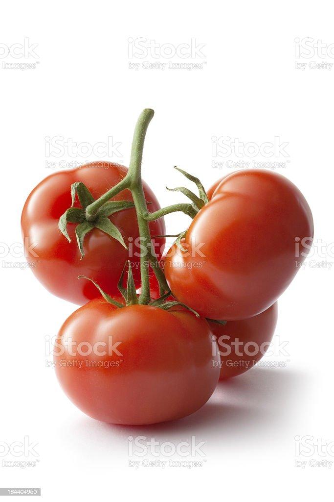 Vegetables: Tomato Isolated on White Background stock photo