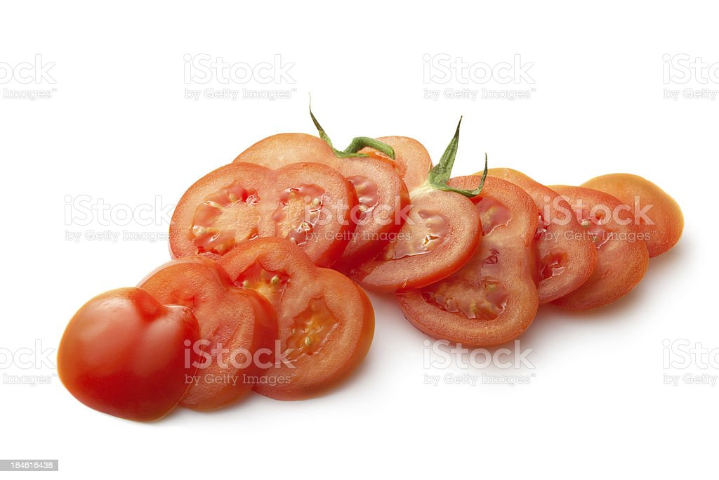 Vegetables: Tomato Isolated on White Background stock photo