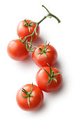 Vegetables: Tomato Isolated on White Background