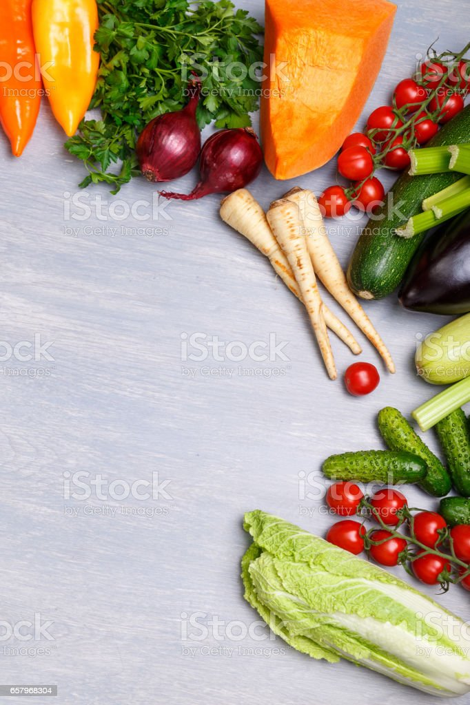 Vegetables. Tomatoes, celery and cucumber. stock photo