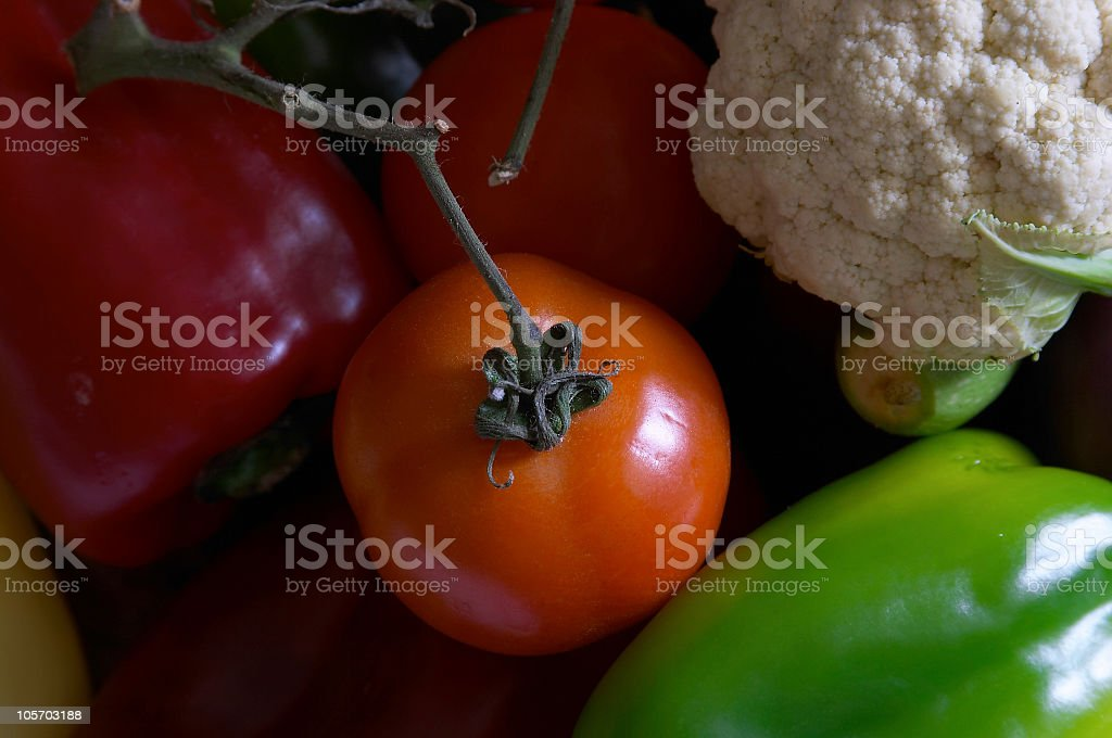 Vegetables & Tomatoes  with soft light stock photo