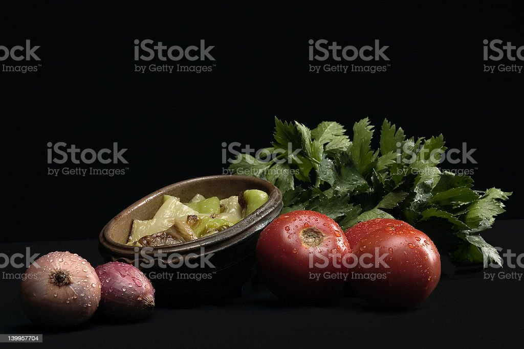 vegetables with flavoring royalty-free stock photo
