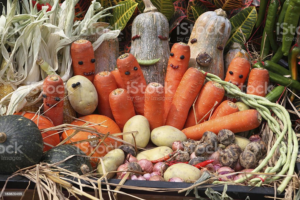 Vegetables with smile stock photo