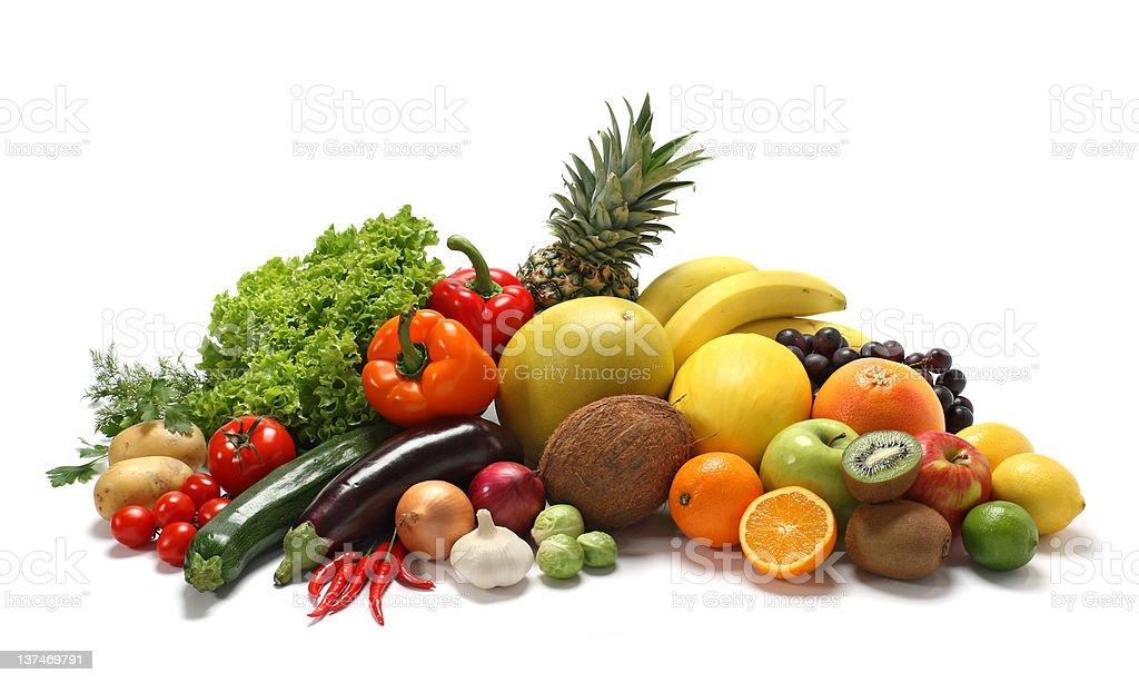 vegetablesand fruits royalty-free stock photo