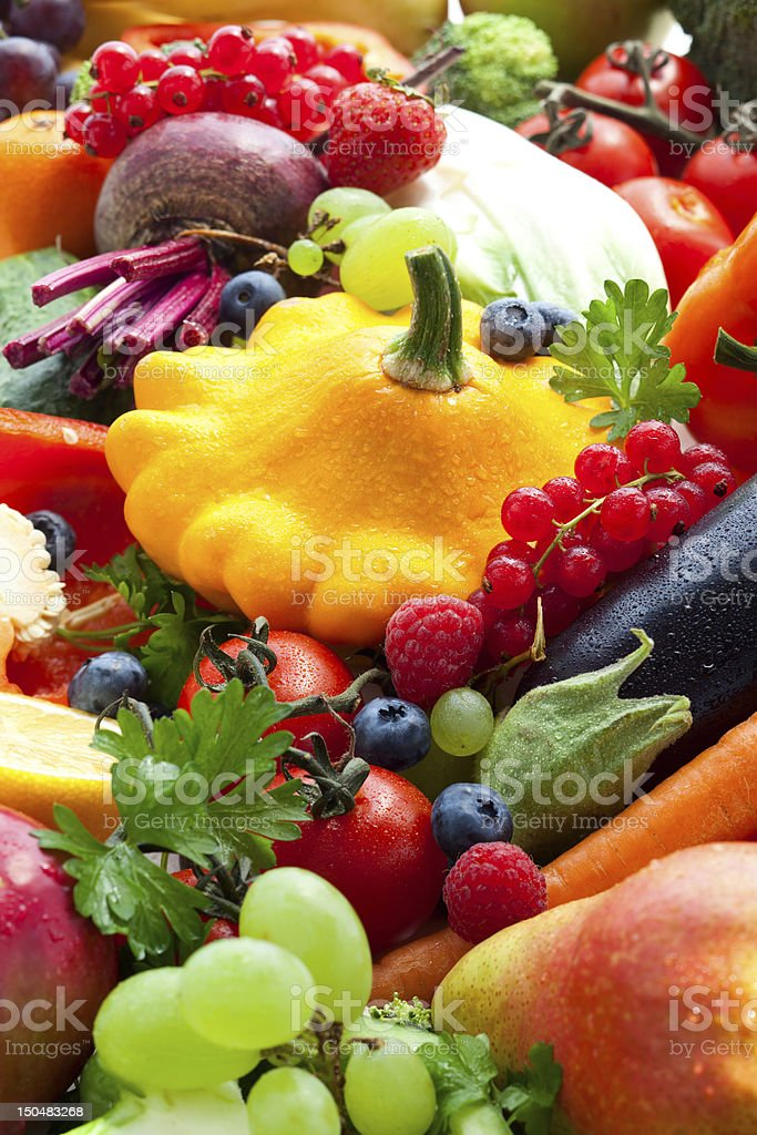 vegetables,fruits and berries royalty-free stock photo