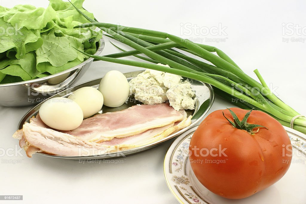 Vegetagles and meat royalty-free stock photo