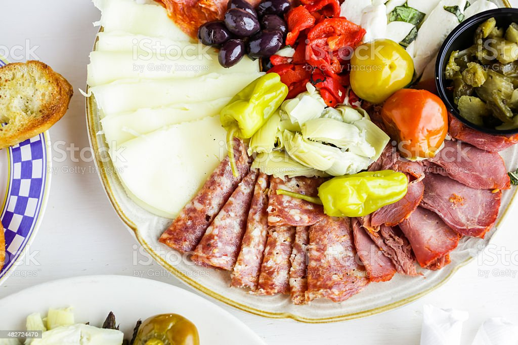 Vegetarian antipasto stock photo
