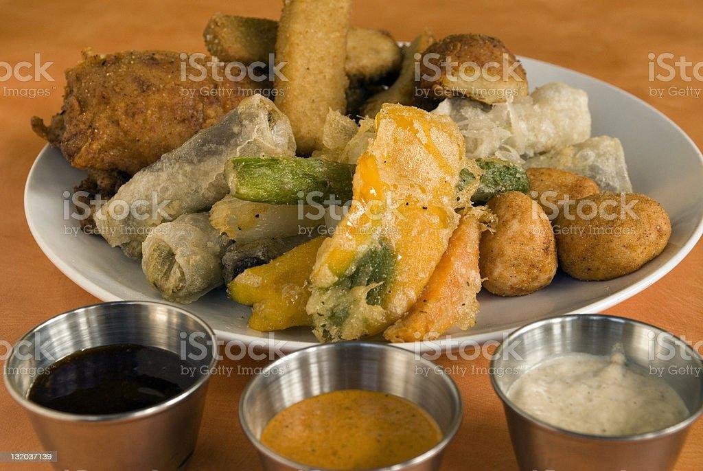 Vegetarian appetizer platter royalty-free stock photo