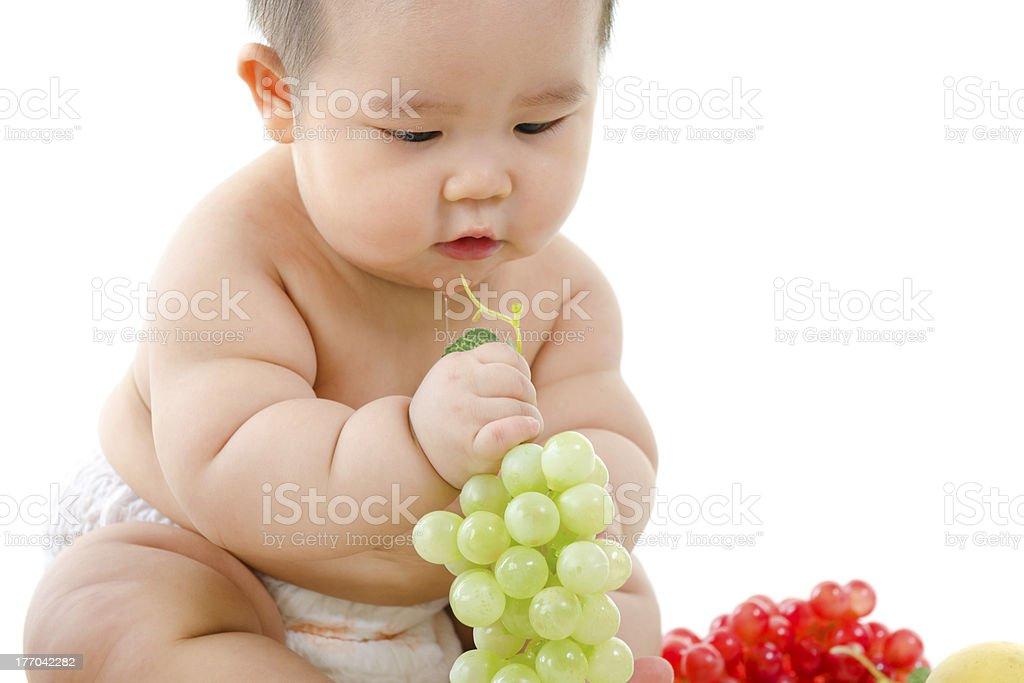 Vegetarian baby stock photo