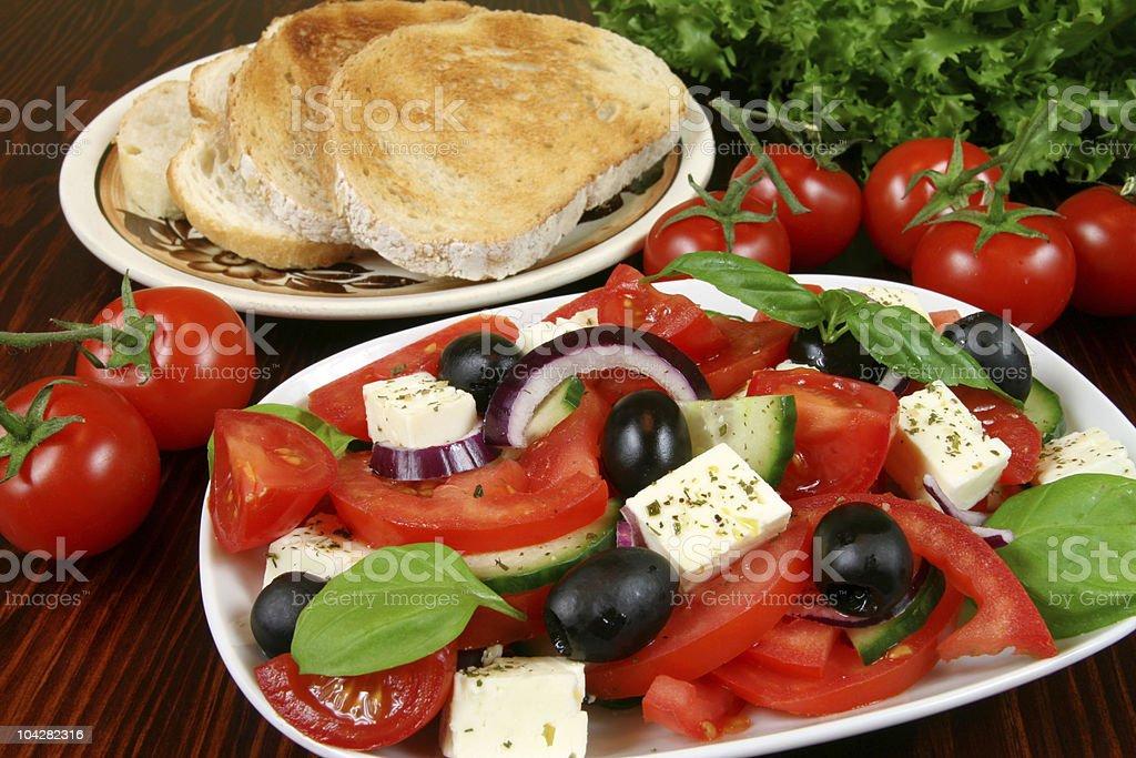 Vegetarian breakfast royalty-free stock photo