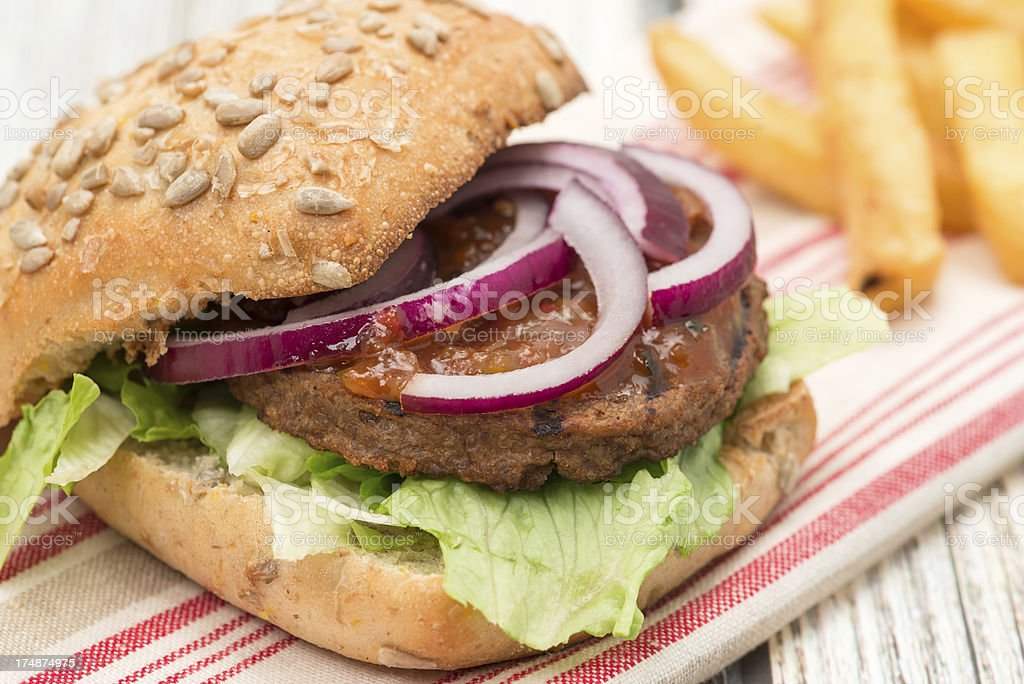Vegetarian burger royalty-free stock photo