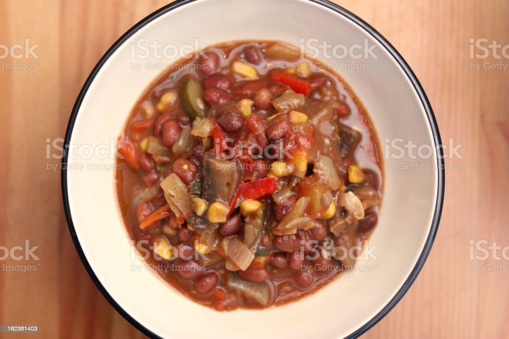 Vegetarian Chili Bowl stock photo