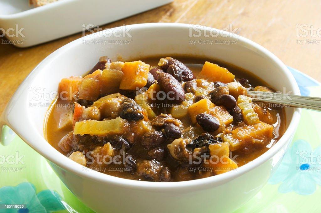 Vegetarian Chili stock photo