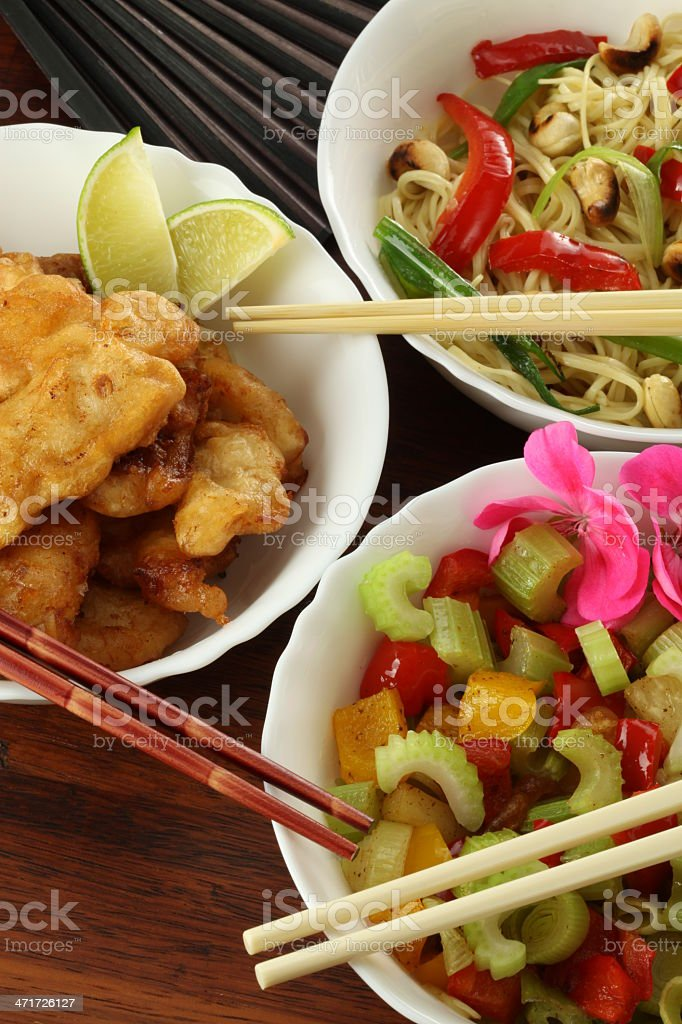 Vegetarian chinese dishes royalty-free stock photo