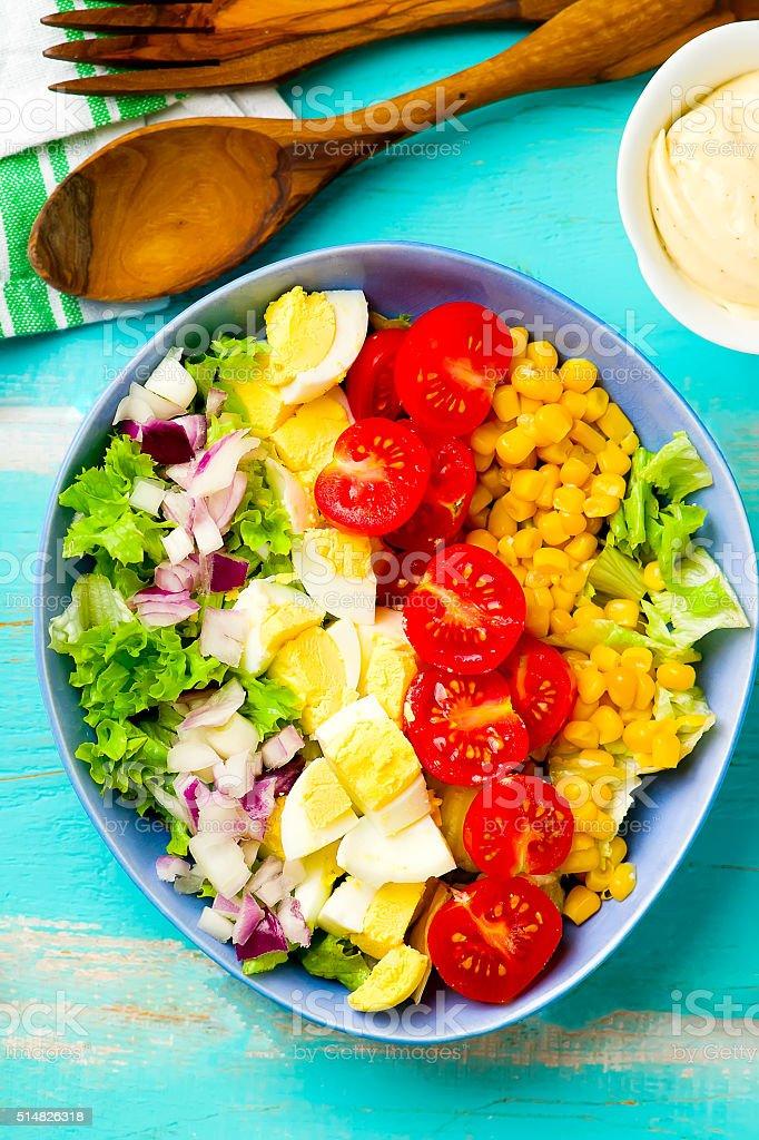 vegetarian Cobb Salad stock photo